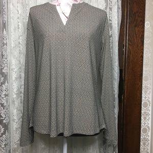 Dana Buchman patterned blouse size medium